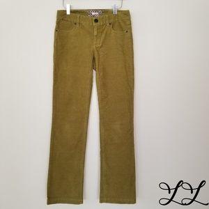 J. Crew Pants Bootcut Cords Corduroy Green Soft